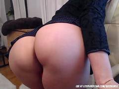My mind-blowing step mom masturbating for me with daddy on the phone