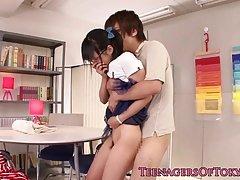 Japanese 18-19 year old girlfriend cocksucking bf cum cannon