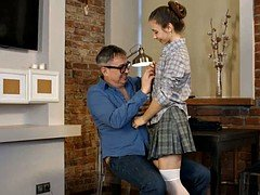 russian  flattie school broad make love hot