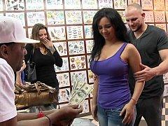 Kitten showing her tush for money