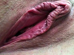 Non-professional Wife Beautiful Pussy Open Gape Sizeable Labia Clit Cum