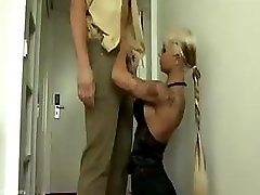 Policeman gets a petite supplementary treatment with hot mouth and cum bucket