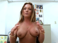Sweet soccer mom removes her clothes & shows us her magic bean piercing