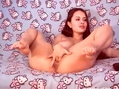 cute brunette gets down and dirty herself hard 1 wmv-coded