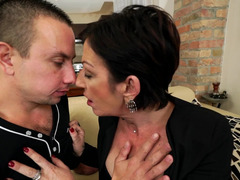 A granny that has milk sacks is giving bj a love tool and besides she is fucked