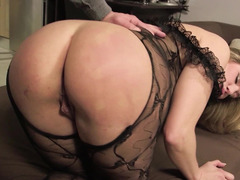Dildo making love milf maid prefers a sizeable cock up her asshole
