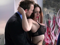 Brunette darling gets nailed in the office by Erik Everhard