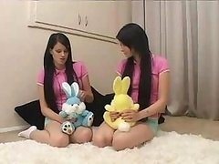 Twins - teenage Sisters Being Taught By Father And plus Wife