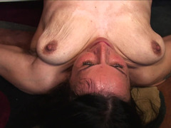 A granny with saggy titties is getting penetrated deeply in this clip