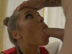 Deepthroat blowjobs and additionally vaginal drilling ends with face cumshot
