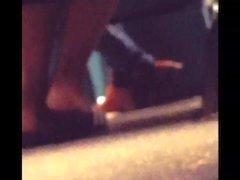 Feet flashing spy in bus