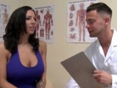Doctor gets in his Large Bra buddies Paitent