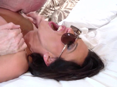 Aroused flight attendant fucked explicit by the big fuck tool lad