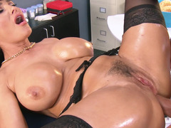 A soccer mom gets fucked by her patient in the nurses office in the vag