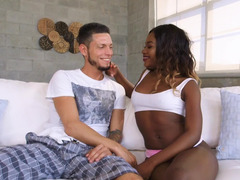 White guy has unforgettable sex with beautiful black girl