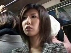 JAPANESE Aroused Babe ON THE BUS
