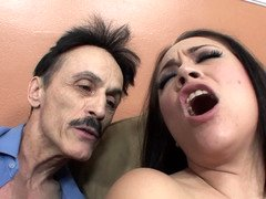 A sexy pervert shakes her tush girl-guy in front of the camera lens