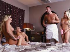 Fucking three pornstars is the fantasy of a lifetime