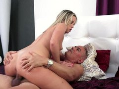 A lady with a sexy tush is getting rammed by an mature lust filled dude