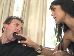 Pegging kitten Angelina Valentine takes his bum