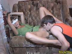 Tricked exgf restrained for a revenge sexgame