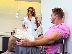 Breasty blonde nurse