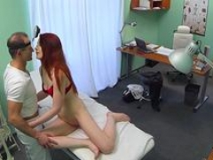 Ginger euro non-professional cocksucking doctor