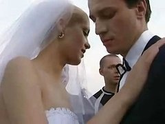 Bride Fucked Outdoors By Some of the Fella!