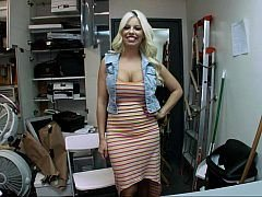 Busty blonde Britney