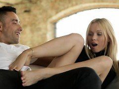 Russian adult video star footjob and plus ejaculation