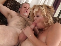 Grand additionallyma takes a overweight cock and additionally cum in her mouth