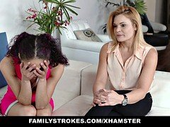 FamilyStrokes - Virgin 18-19 y.o. Learns To Give head From Mom