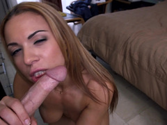 Brunette with large boobs is getting groped and additionally penetrated also