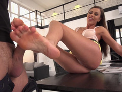 Slim babe gets fucked in her house by her fetishist boyfriend