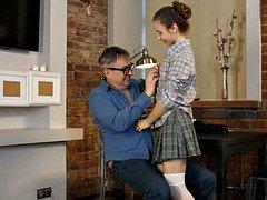 russian  flattie school girl bang hot