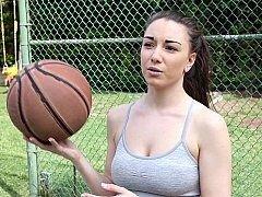 Ball girl giving blowjob black dick