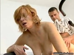 Aroused housewife going wacky riding part3