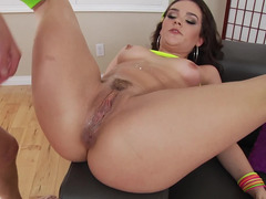Fragile lassie is rammed in the ass by experienced beau