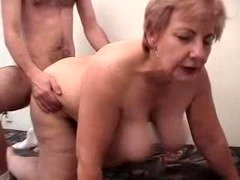 Heavyweight Grandma Having Fun With A Male Prostitute