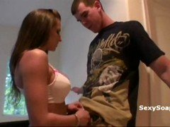 Hot & aroused whore gives her boyfriend a soapy surprise
