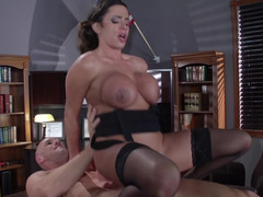 Hot thing that has glasses and some sexy curves is getting rammed
