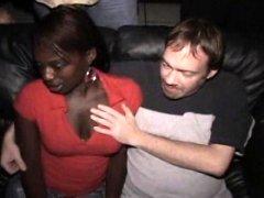 Ebony Cum Slut Gets Mad In Porn Theater