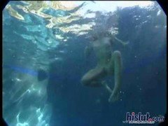 Dominica Leoni and furthermore Kimberly Kane are loving a few years off from work while swimming in their pool where youll get an underwater camera sh