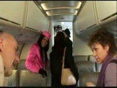 Stewardess Madison Parker Bangs