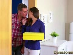 Dane Jones Cheating brunette wife is fucked and furthermore creampied by plumber