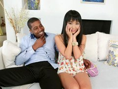 Sweet Asian Marica Hase takes a BBC in her asshole