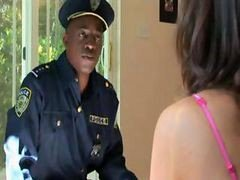 Interracial Force Abuse Of Glamorous Gal By Black Police Officer