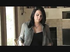 Pregnant julie displaying of