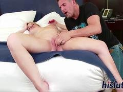 Big-breasted pregnant blonde gets fucked hard