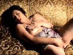 Reiko Hanasaki rubs cunt with long nails & puts toy